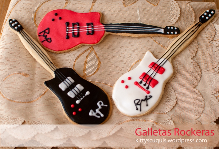 Galletas Guitarras Rockeras