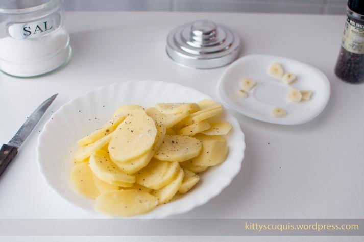Patatitas y ajitos listos